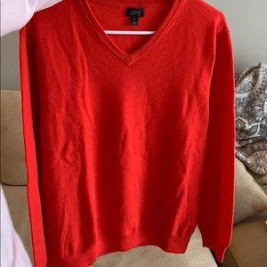JCrew men's red merino wool sweater
